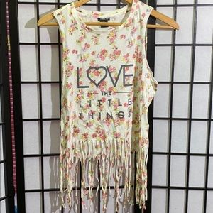 Rue21 Fringed Tank Top Size M